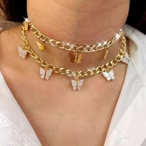 *INCLUDES BOTH* BUTTERFLY SILVER CHOKER SET